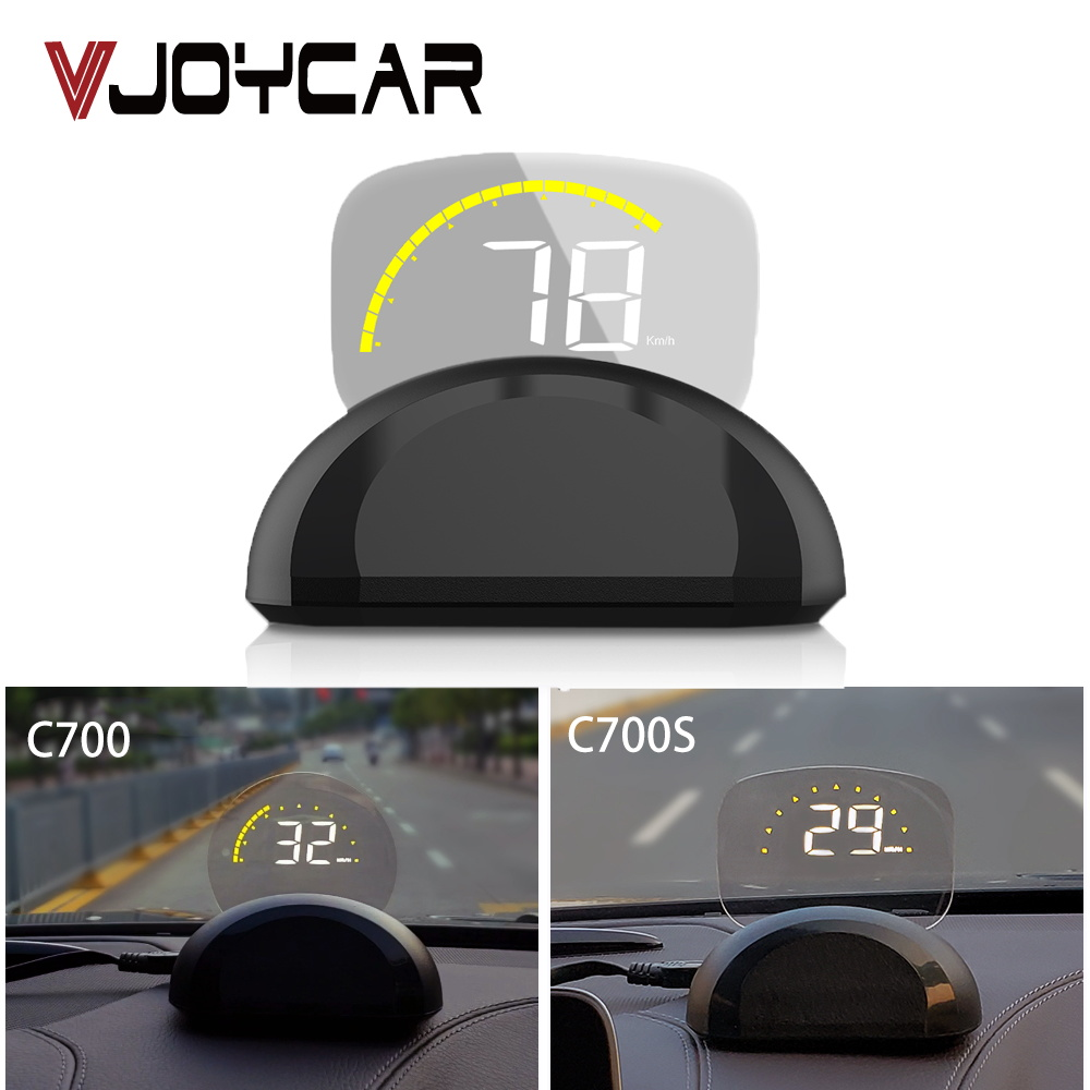 VJOYCAR HD C700 OBD2 Car HUD Head Up Display Automobile Trip On-Board Computer GPS Speedometer Clear Projector Diagnostic Tool