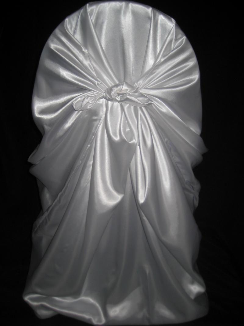 50 Premium White Pillowcase Satin Chair Cover For Wedding