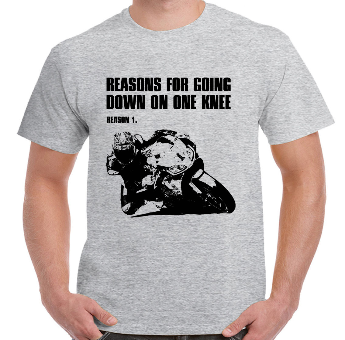 2018 Fashion Hot sale Reasons For Going Down On One Knee - Mens Funny Motorbike T-Shirt Superbike Biker Tee shirt