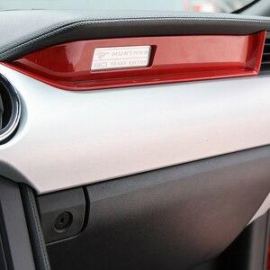 Image 2 - MOPAI araba iç kalıp Copilot koltuk pano dekorasyon şerit Trim ABS çıkartmalar Ford Mustang 2015 Up araba Styling
