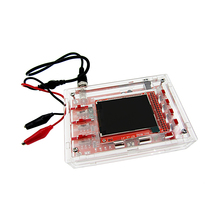 DSO138 2.4 TFT Handheld Pocket-size Digital Oscilloscope Kit DIY Parts + Acrylic DIY Case Cover Shell for DSO138 2 4 dso150 digital oscilloscope with protection box shell case cover tft probe allicator chip for arduino oscilloscope diy kit