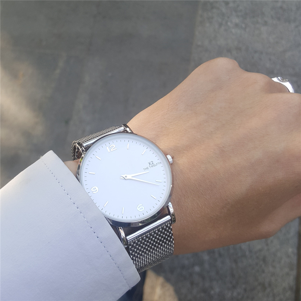 2017 New Fashion top luxury brand X2 THE TWELFTH watches men quartz watch stainless steel mesh