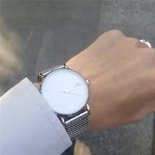 2017 Nueva Moda X2 EL DUODÉCIMO de primeras marcas de lujo relojes hombres de acero inoxidable reloj de cuarzo correa de malla ultra delgado dial reloj