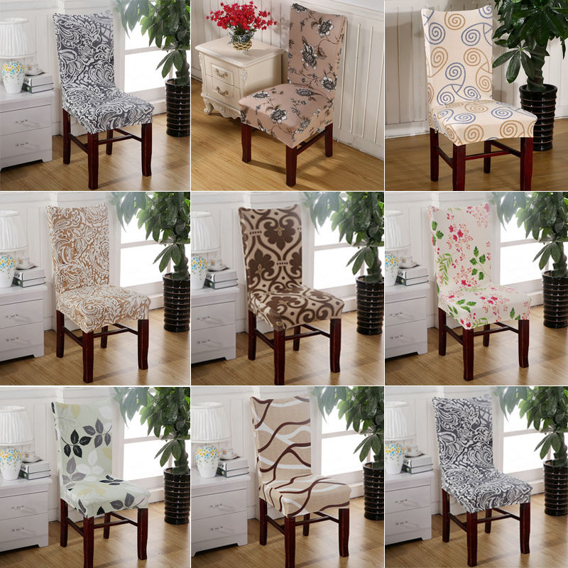 1PCS Europe Design Removable Stretch Slipcover For Living Dining Short Postoral Flower Print Chair Cover