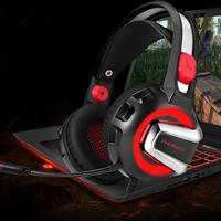 Headset Gaming Headphones Stereo Headphone With Microphone For PS4 Xbox One PC Mac Earphone With LED Lights And Soundproofing