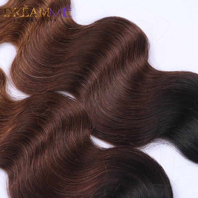 # 1B / 4/30 Barva Body Wave 3 snopi Ombre Brazilski človeški lasje - Človeški lasje (za črne) - Fotografija 3