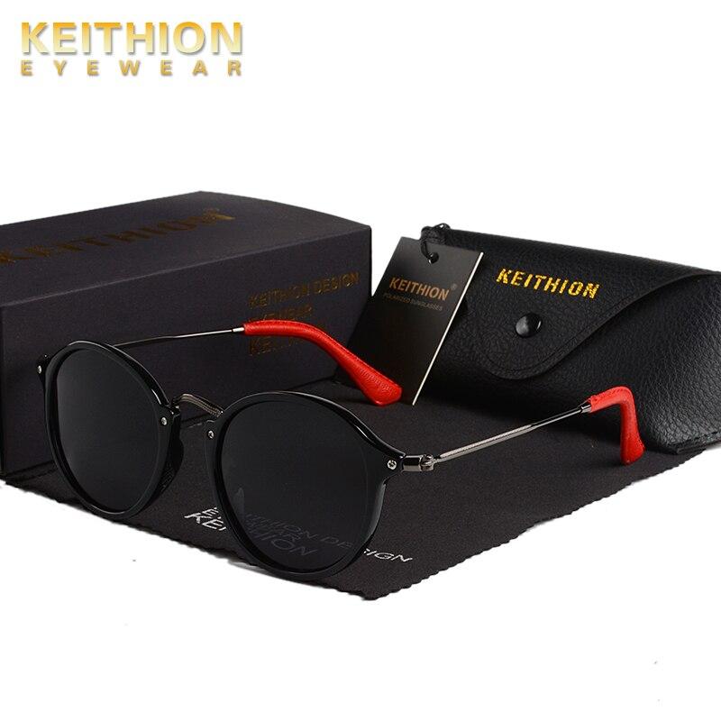 KEITHION Brand Retro Classic Vintage Round Polarized Sunglasses Men Sun Glasses Women   Eyewear Driving UV400