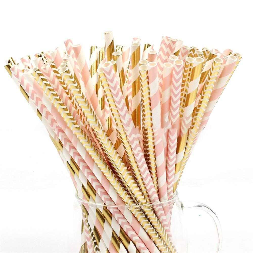 100pcs/pack Party Color Paper Straw Eco-friendly Biodegradable Straw Party Supplies Birthdays Weddings Decorations100pcs/pack Party Color Paper Straw Eco-friendly Biodegradable Straw Party Supplies Birthdays Weddings Decorations