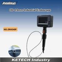 Dr4540p Портативный 4.3 ЖК дисплей инспекции эндоскоп Камера OD 4.0 мм промышленных эндоскоп канализационные дренажный трубопровод Borescope Камера