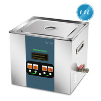 300W 11L Stainless Steel Digital Ultrasonic Cleaner Bath Industry Heated Ultra Sonic Cleaning Machine Ultraschallreiniger Hot