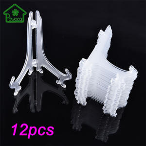 Pawaca 12Pcs/Set Plastic Dish Rack Holder Display Stand