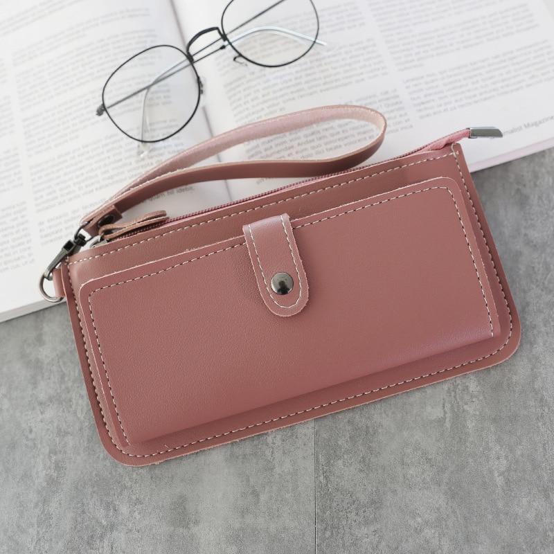 Brand Leather Wallet Women Large Long Designer Zipper Long Wallets Purse Vintage Wallet Design Lady Clutch Carteira Feminina