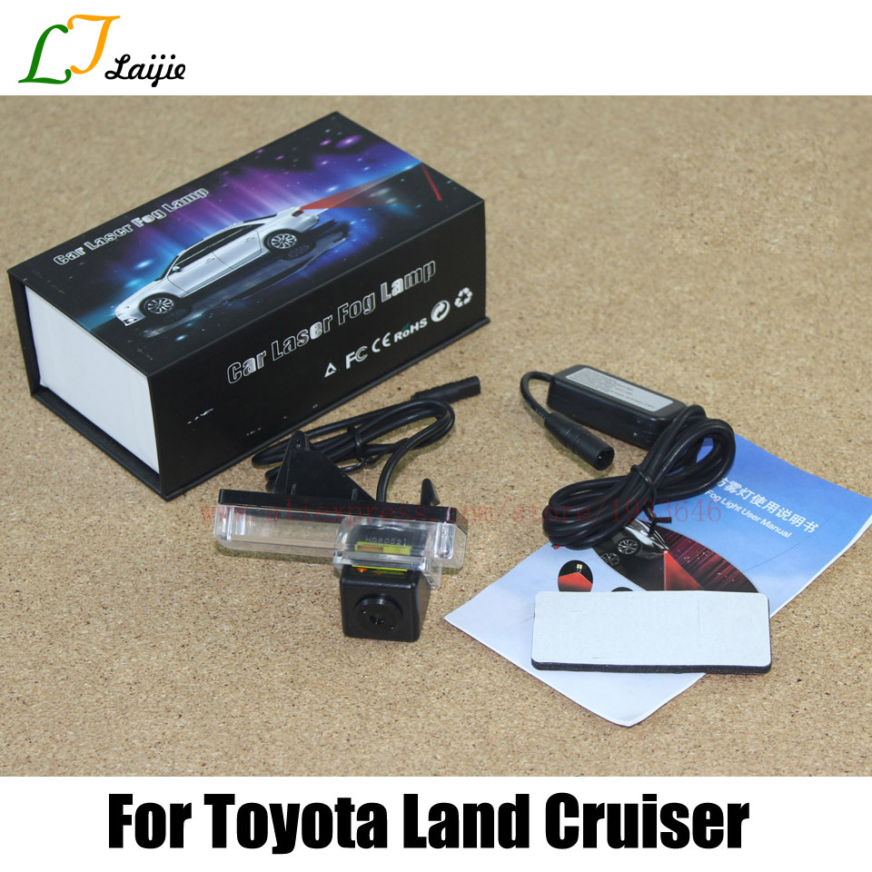 For Toyota Land Cruiser LC 100 120 200 Prado V8 / Prius / Mark X / Car Laser Fog Lamp / Parking Warning Lights bigbigroad car hud windscreen projector for toyota land cruiser prado 70 90 120 150 lc 100 200 v8 200 lc200 head up display