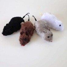 Оттягивающая имитация цепочки мыши милые мыши модель животных детские пластиковые заводные игрушки Горячая Распродажа забавные детские подарки
