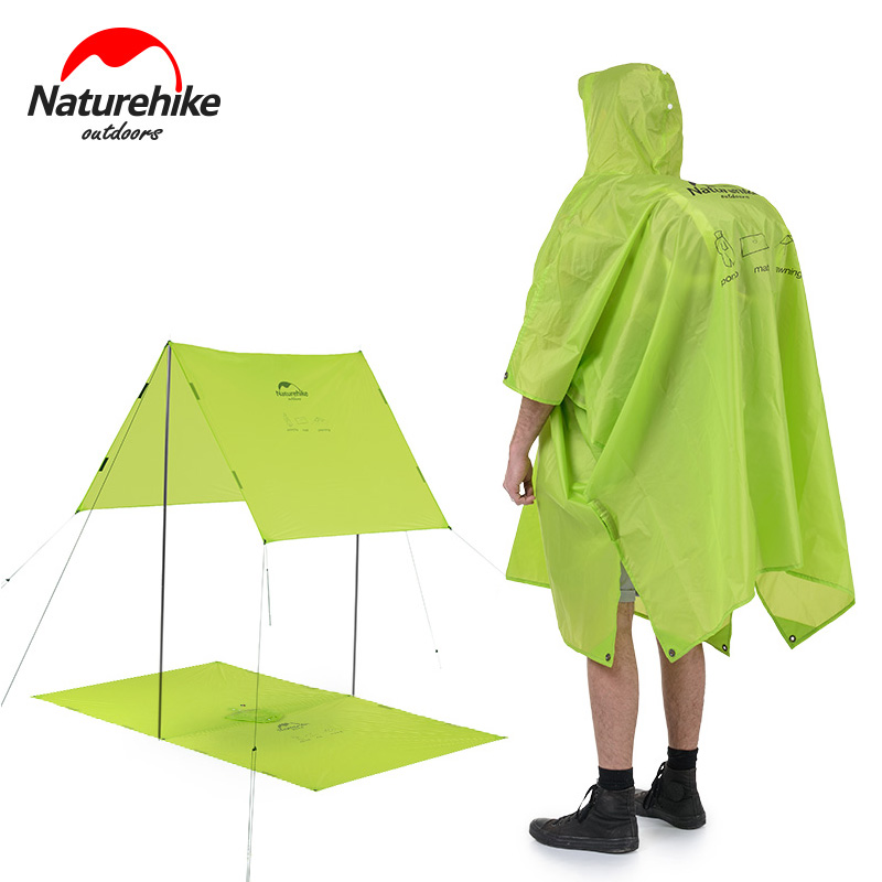 Naturehike 3 in 1 Ourdoor Portable Multifunktionale wasserdicht Schatten Abdeckung Wasserdicht Poncho Regenbekleidung