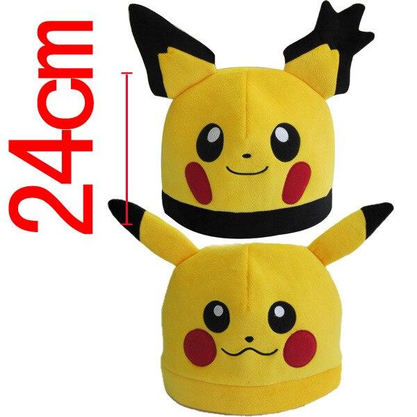 5c7db5ceb7ef6 Pokemon Pikachu Soft Plush Hats Adults Children Winter Warm Beanies  Charmander Pocket Monsters Cosplay Hat Anime Caps PM0118