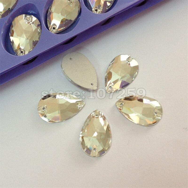 இCrystal Clear lágrima coser en Rhinestones gotita cristales de ...