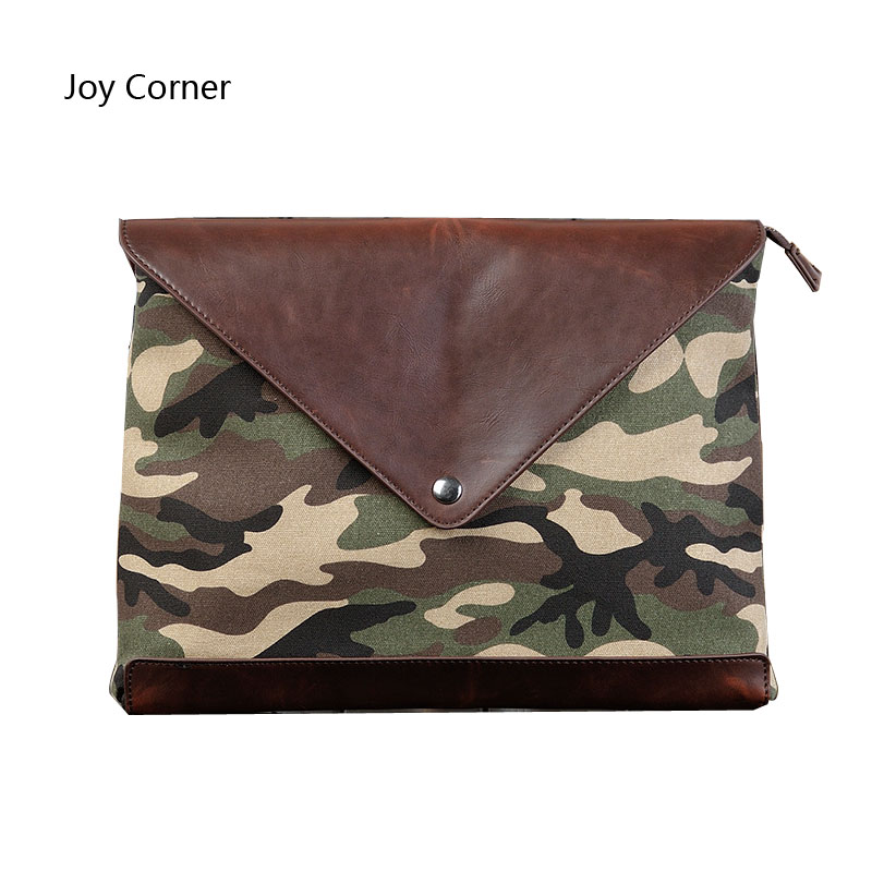 Document Folders Bag Camouflage Pattern High capacity Office Accessories File Paper Folders Zip Pocket JOY CORNER Drop Shipping