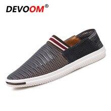 7bd153b2f الأزياء الهواء شبكة أحذية الصيف تحلق Weaven أحذية رجالي في الهواء الطلق ضوء  حذاء كاجوال الأزياء