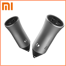 100% Original Xiaomi Mi Car Charger Dual USB Max 5V3.6A Metal Fast Charging Universal Car Charger Competiable With smart Phones