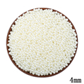 4mm ABS Ivory Imitation Pearl Round Hole Beads 1500pcs/lot Wholesale Plastic Ball European Beads For Kids DIY Jewelry Making Hot