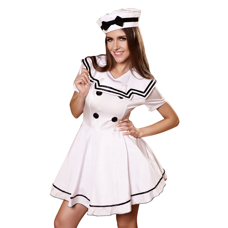 2017 New Arrival Womens Sailor Cosplay Sexy Nude Costumes Sailor Dance Costumes-In -3837