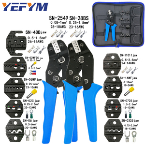 Crimping tools pliers set for