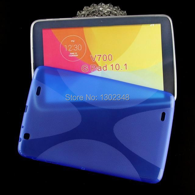100PCS Anti-skid Matte X Line Design Soft TPU Tablet Case Cover For LG G Pad 10.1 V700 EMS/DHL/FEDEX Free Shipping