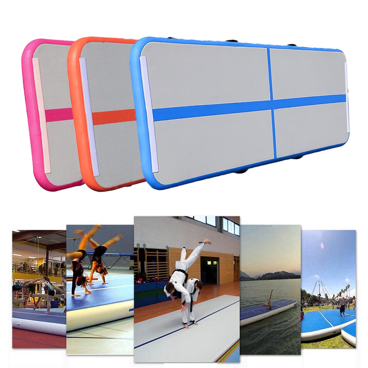 Newest Sport Portable 0.5*3m Inflatable Tumble Track Trampoline Air Track Taekwondo Gymnastics Inflatable Air Mat free shipping 6 2m inflatable tumble track trampoline air track gymnastics inflatable air mat come with a pump