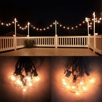 10 x 8M European Clear Globe G40 String Lights, Included Connectable Patio Light String For Wedding Holiday Lights