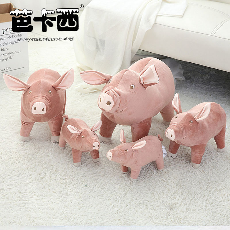 pig plush toy cute stuffed soft animal doll simulational pink pig plush doll kids toys birthday christmas gift for children купить