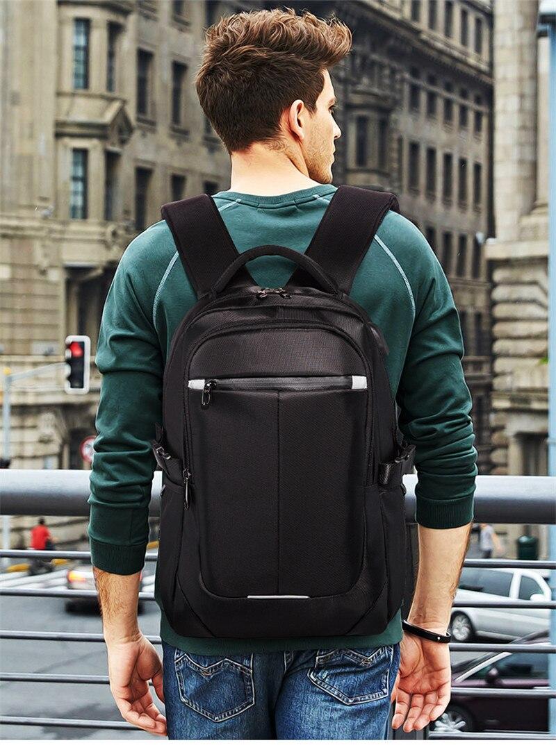 Nesitu imperméable grand grand Oxford noir bleu rouge 14 ''15.6'' ordinateur portable femmes hommes sacs à dos sac de voyage cartable de haute qualité M8806