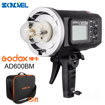 Godox AD600BM Bowens Mount 600Ws GN87 High Speed Sync Outdoor Flash Strobe Light with 2.4G Wireless X System, 8700mAh Battery