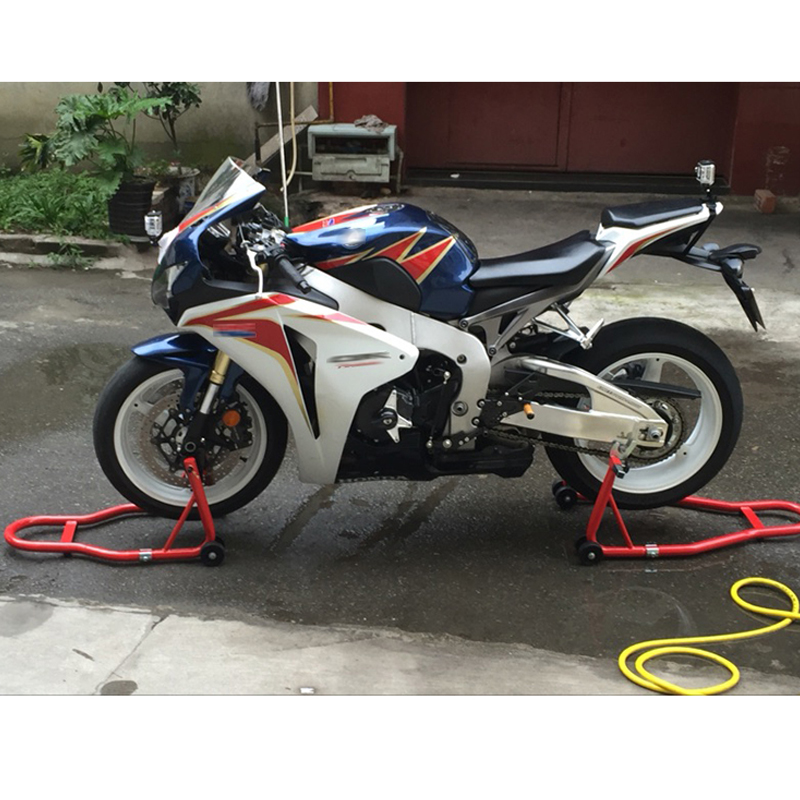 HZYEYO Motorcycle Full Set Front Wheel And Rear Wheel Support Swingarm Stand 5