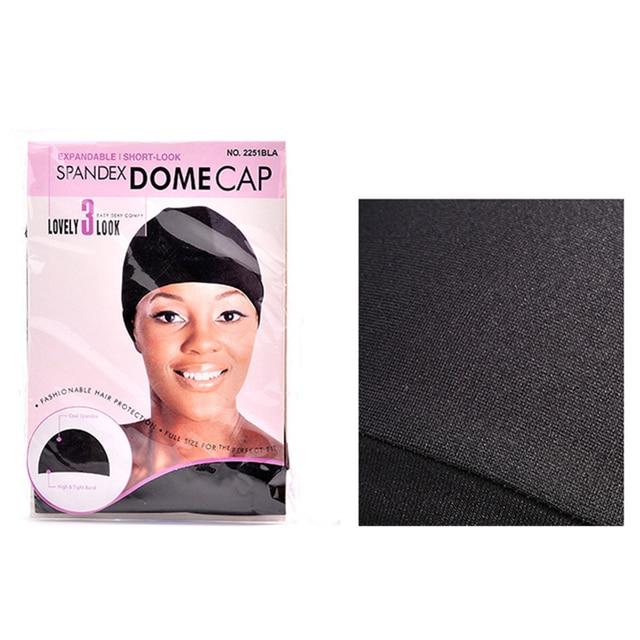 Black Wig Cap Spandex Net Dome Cap for Women Wig & Hair Weaving Making 40pcs