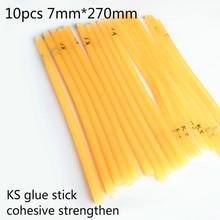 10pcs 7mm*270mm Super Sticky KS Type Hot Melt Glue Stick High Viscosity Adhesive Rubber fit for 20W glue gun