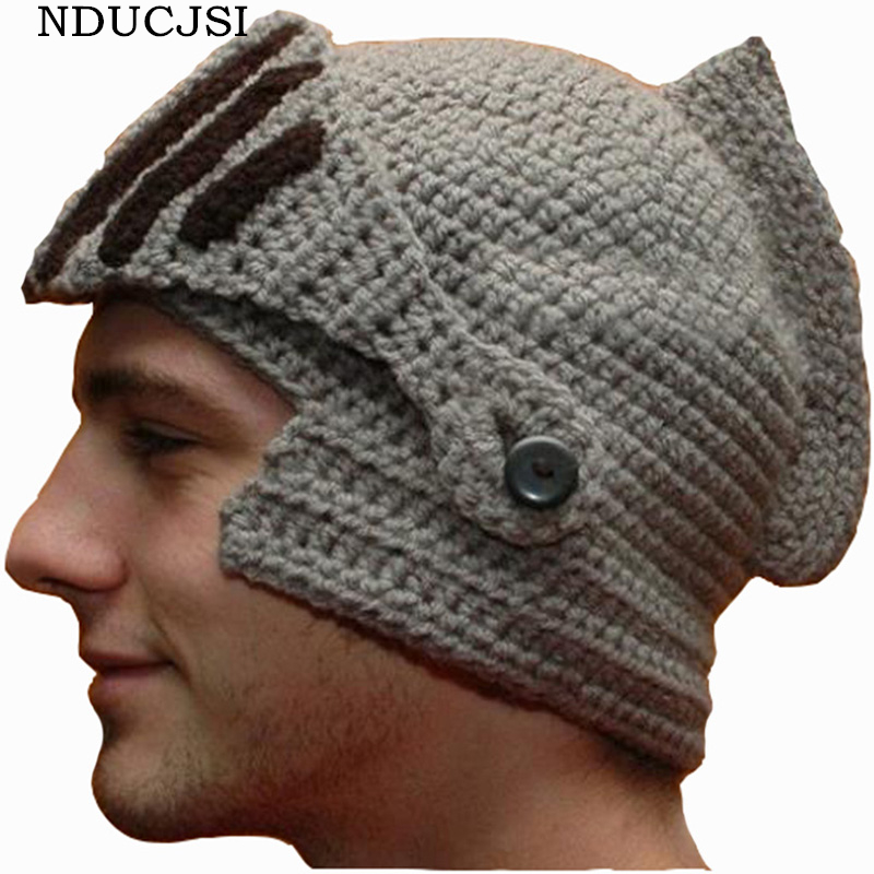 45a2e86d993e € 5.59 |NDUCJSI invierno Funny romano gorros hombres Caballero mujeres  sombreros casco gorras Beanie Knit Ski caliente fresco hecho a mano nuevo  ...