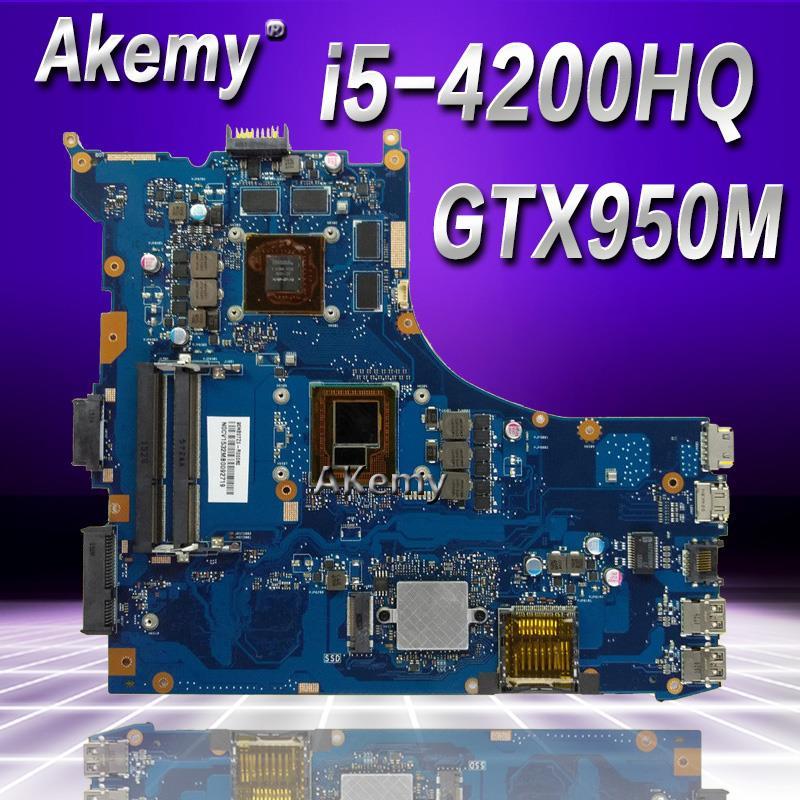 Akemy GL552JX Laptop motherboard for ASUS GL552JX GL552J ZX50J Test original mainboard GTX950M 2GB i5-4200HQAkemy GL552JX Laptop motherboard for ASUS GL552JX GL552J ZX50J Test original mainboard GTX950M 2GB i5-4200HQ