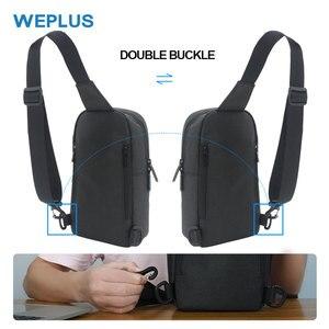 Image 2 - Weplus crossbody 가방 남자 여자 방수 가슴 가방 팩 안티 절도 어깨 가방 남자에 대 한 작은 가방 usb 헤드폰 와이어 포트