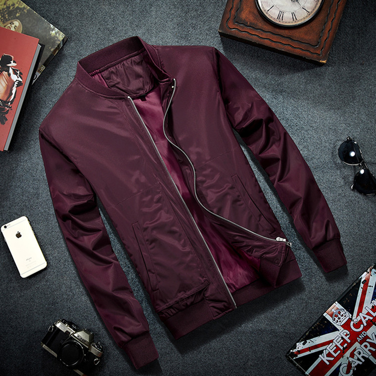 new 2018 during the spring and autumn outfit men's jacket Collar cultivate one's morality leisure pure color jacket