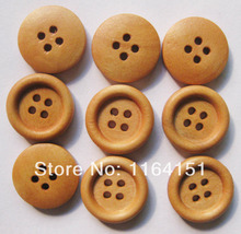 50Pcs/pack 18mm Natural Wood Button china Sewing clothing Craft Accessorie Kids Buttons Clothes Accessories