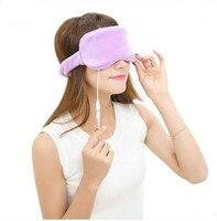 Usb ładowania elektryczne ogrzewanie parowe skrawku lodu gorącej kompres temperatury regularnie zmęczenie oczu sen czarna obwódka oka