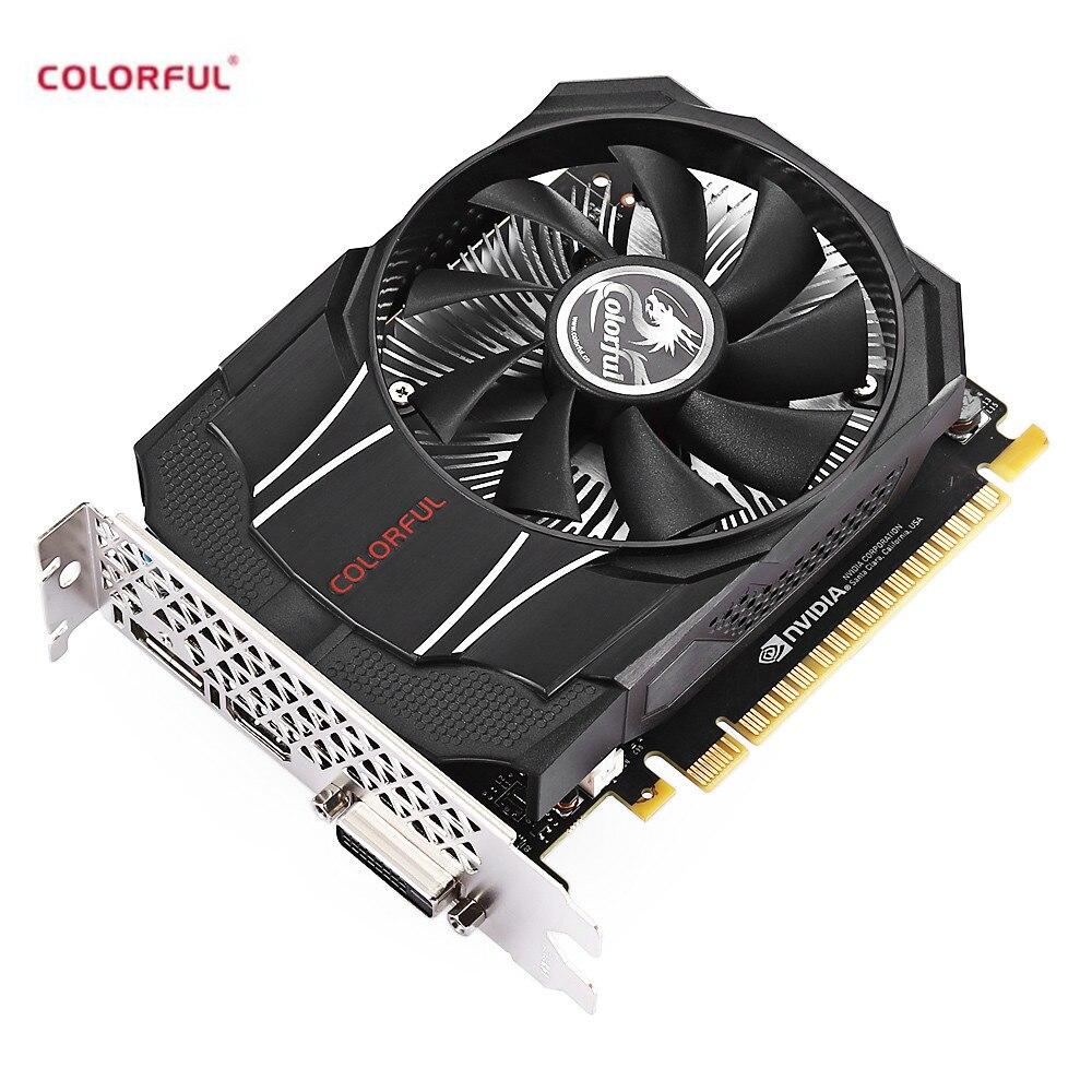 Coloré GTX1050 Mini OC 2g Gaming Carte Graphique 7000 mhz/2 gb/128bit/GDDR5 PCI Express 3.0X16 Carte Vidéo pour le Bureau
