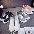 2016 New Arrival Women Shoes Canvas Shoes Women Fashion All Lace Up Flat Casual Shoes Hot Sale 5 Star Brand Shoes Women-E2