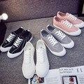 2016 Novos Chegada Mulheres Sapatos Sapatas de Lona Das Mulheres Da Moda Todos Lace Up Planas Sapatos Casuais Venda Quente 5 Sapatos Da Marca Estrela Women-E2