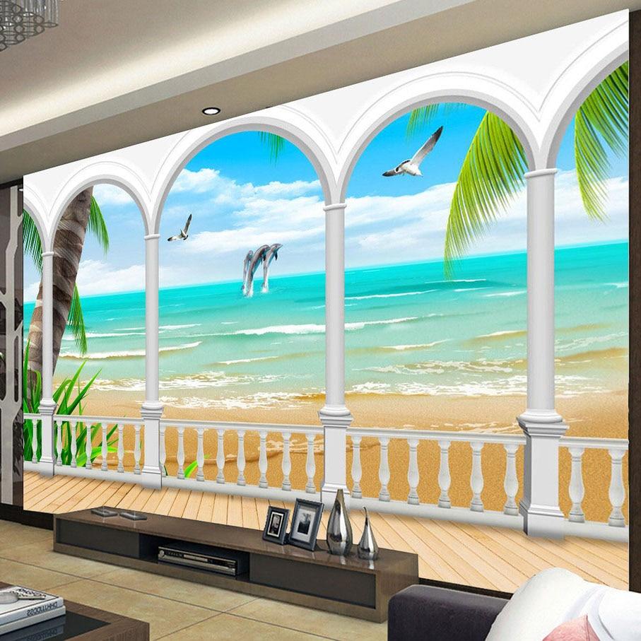 compare prices on european roman wall murals online shopping buy custom mural wallpaper european seaview roman column wall decorations living room bedroom sofa tv background wallpaper