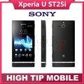 Оригинальный Разблокирована Sony Xperia U ST25i ST25 3 Г GPS WI-FI 5MP Android Мобильный Телефон Отремонтированы 1 год гарантии Freeshipping