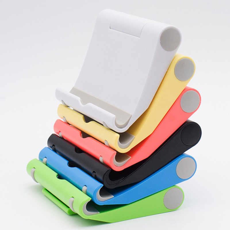 Universal Mobile Phoen Desk Holder ABS Foldable 360 Degrees Bed Desk Car Mount Stand for Phone Pad Tablet