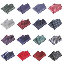 KR1371 Новый Для мужчин полиэстер Шелковый Карманный платок квадраты горошек Пейсли ЖАККАРДОВЫЕ для костюмы куртки Свадебная вечеринка