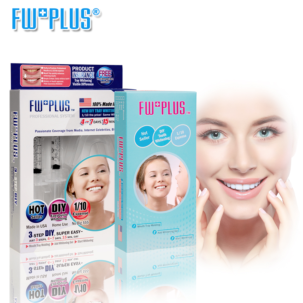 Gentle-Fast Teeth Whitening Kit+3-pack-refill 3D-Fit Tray Whitening Gel MUCH WHITER Than Whitening Strips & Toothpaste FWPLUS 2017 teeth whitening oral irrigator electric teeth cleaning machine irrigador dental water flosser professional teeth care tools